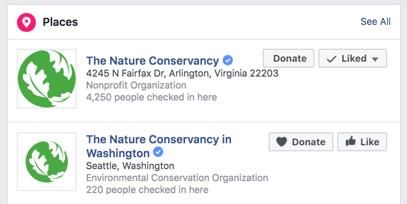 This is what Facebook verification looks like in search results.